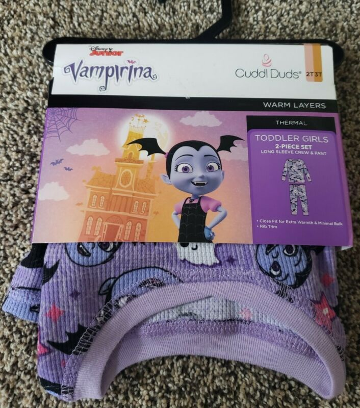 NWT cuddle duds warm layers thermal pajamas loungewear pants crew Vampirina