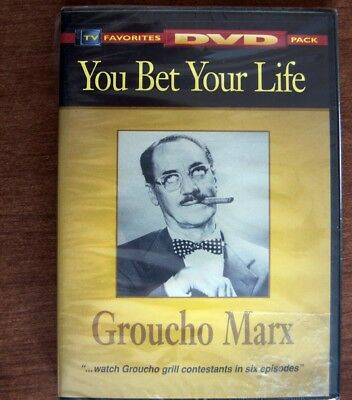 You Bet Your Life, Groucho Marx, Marx Brothers TV Favorites DVD, NEW sealed 3 hr