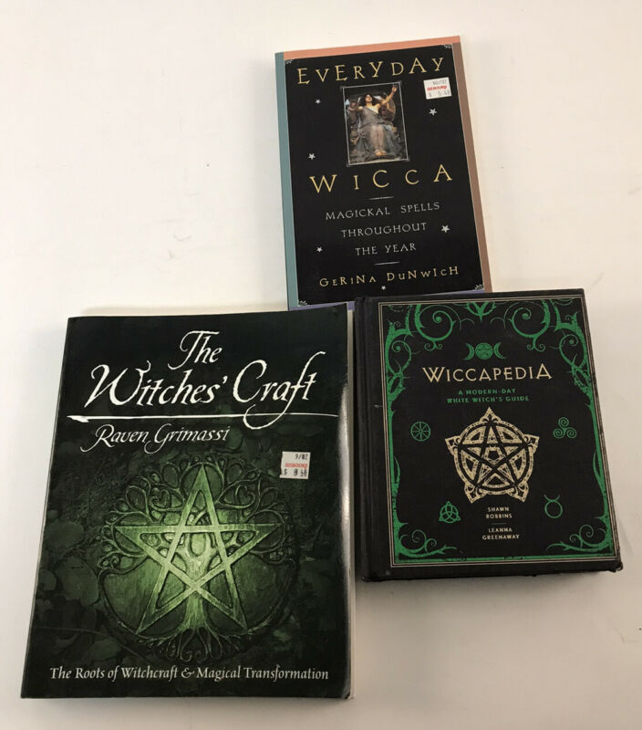 Witchcraft Wicca Book Lot Of 3