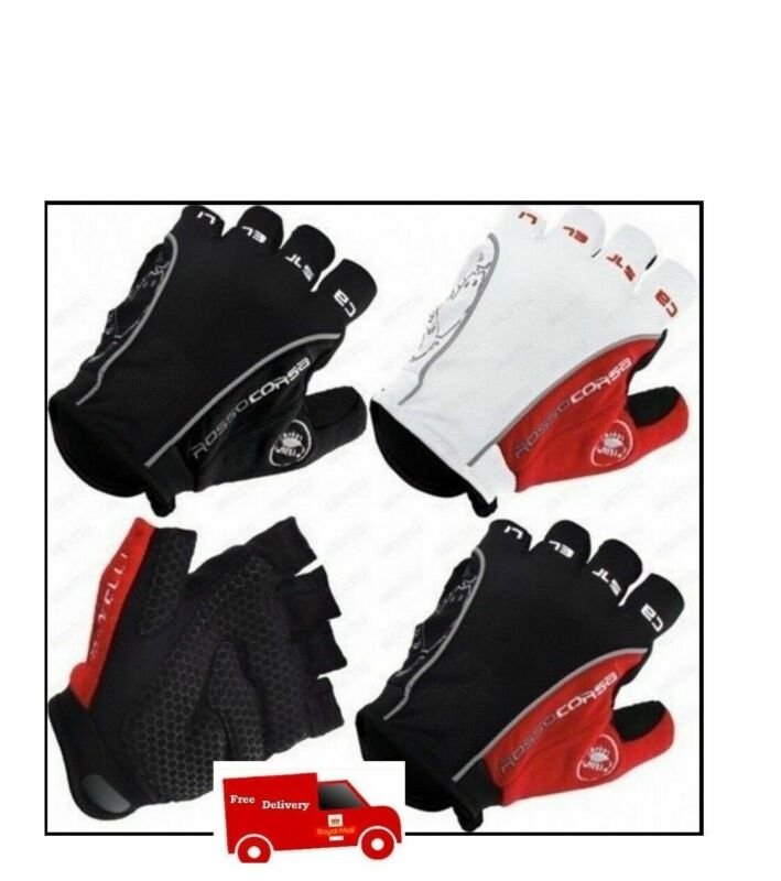New Castelli Half Finger Cycling Motorcycle Riding Racing Motoroad Summer Gloves