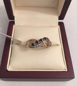 9ct Gold Sapphire and Diamond Ring Mandurah Mandurah Area Preview