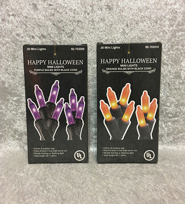 20 Halloween Mini Lights Purple Orange](Purple Halloween Lights)