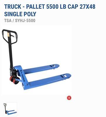 New Pallet Jack Hand Truck 5500lb 27 X 48