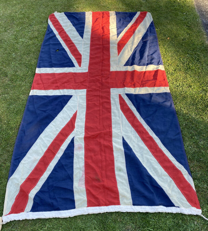 Huge Vintage Union Jack flag  Maritime use .250cm By 130cm