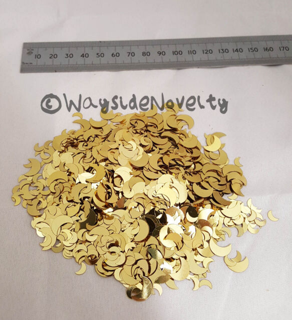 CONFETTI SPARKLING MOON LARGE GOLD 20 GRAMS PARTY FANCY DRESS TABLE DECORATION