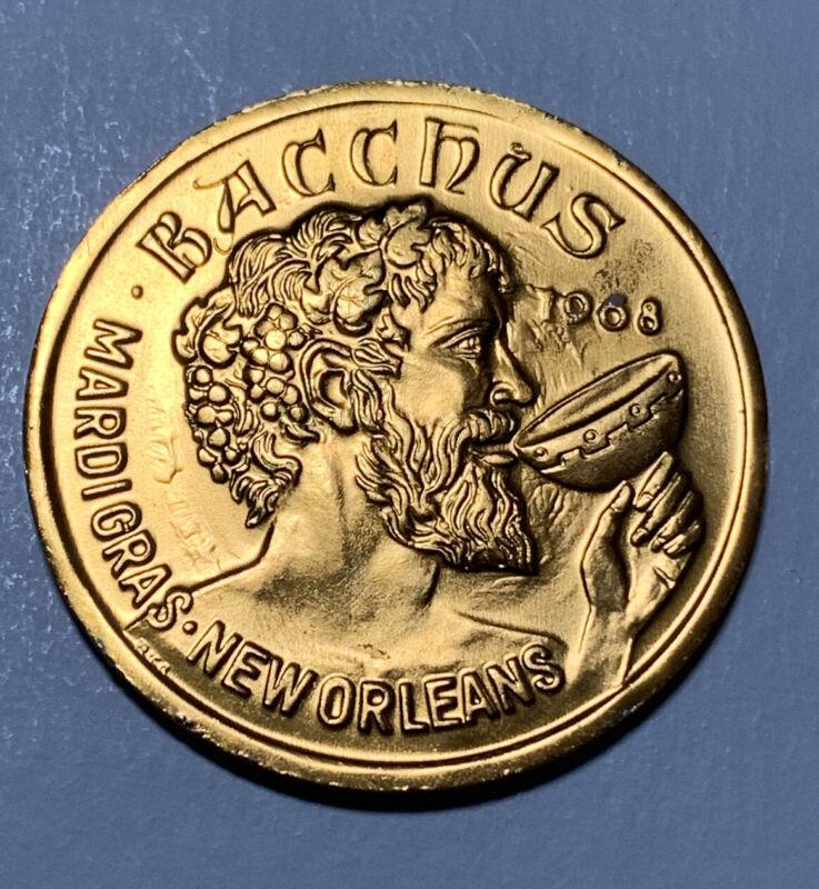 1986 Bacchus Antique Bronze Doubloon - Mardi Gras
