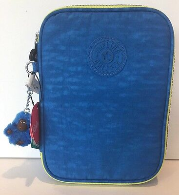 Kipling NEW!!! 100 PENS COSMETIC Pencil AZURE BLUE NWT TRAVEL AC3657 473