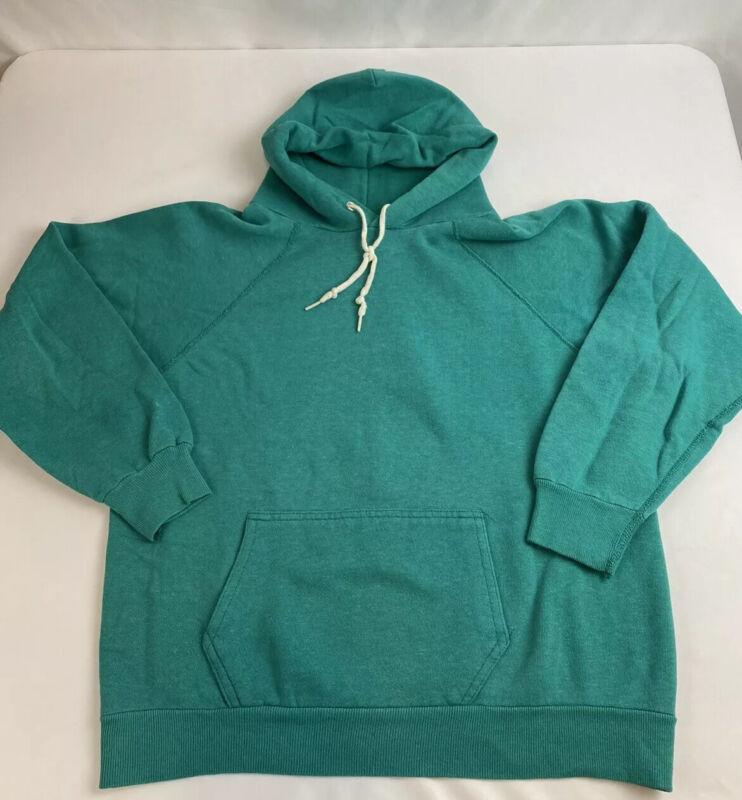 True Vintage 70s Hoodie  Sweatshirt Hooded Size Small Green A0503
