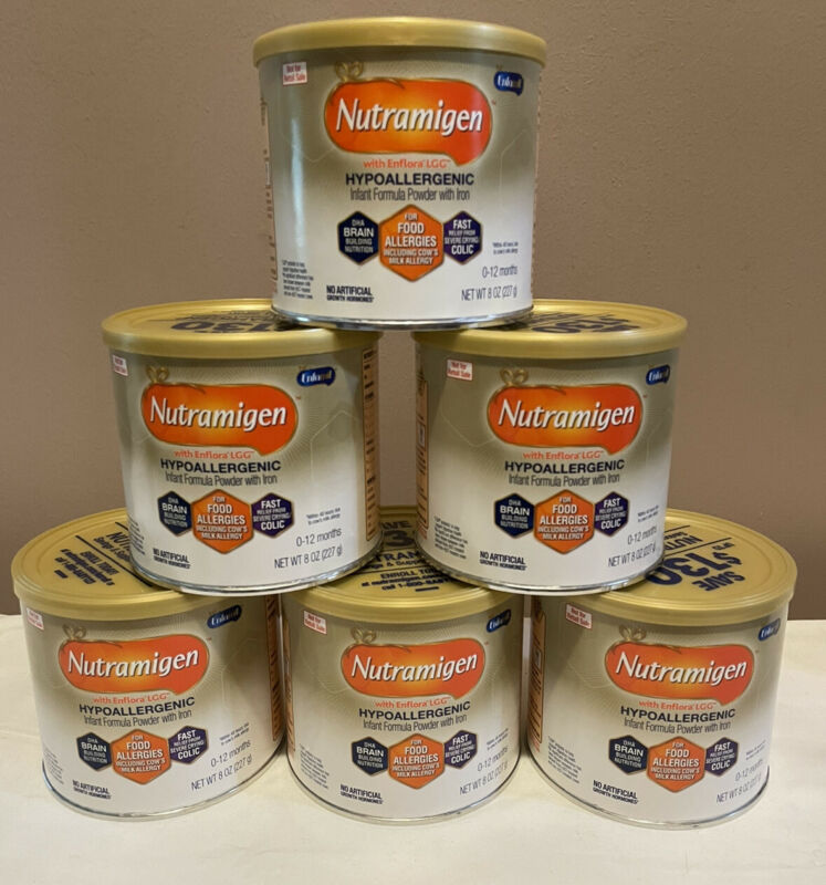 Nutramigen Hypoallergenic Infant Formula with Enflora LGG 8 Oz X 6 Ex 4/22
