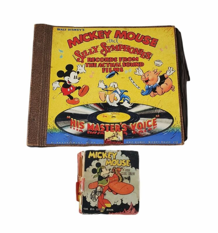 Mickey Mouse SILLY SYMPHONIES Disney Record NO RECORDS Big Little Bk Mail Pilot