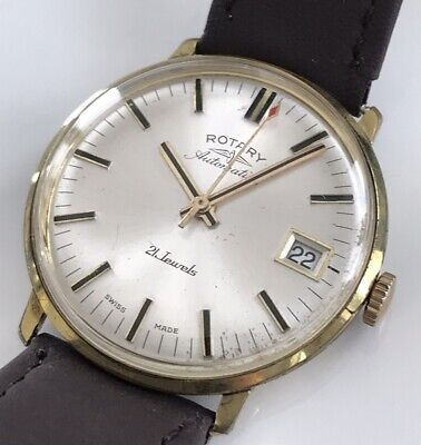 Mens Vintage Automatic watch ROTARY 21j Swiss 1970 AS1749