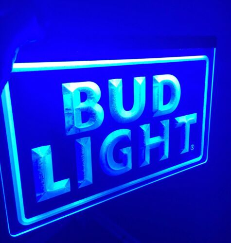 BUD LIGHT LOGO BAR Sign Led Neon Light for Game Room,Office,