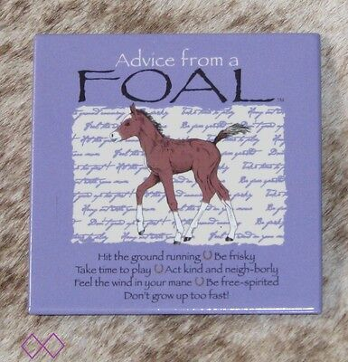 "LEANIN TREE ""Advice From A Foal"" Magnet #26555~Don't Grow Up Too Fast~Be Frisky!"