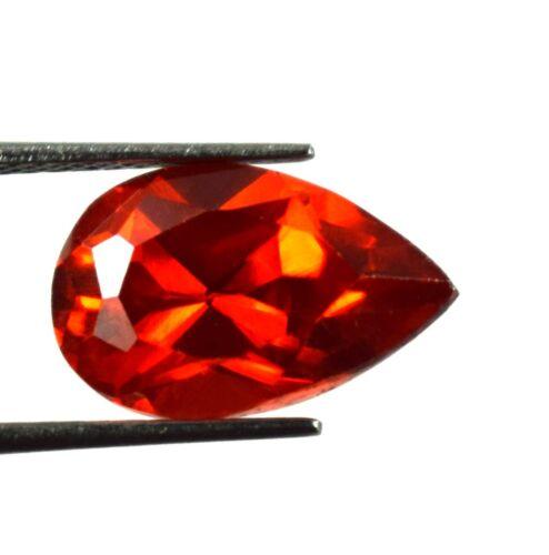 100% Natural 11.15 Ct Spain Orange Sphalerite Gemstone Pear Cut Certified G3096
