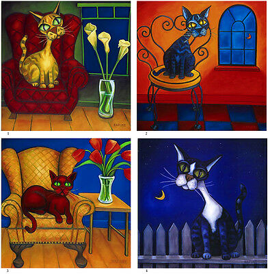 Art Cats Ceramic Mural Home Kitchen Backsplash Tile #5