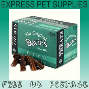 2-5kg-BULK-DEAL-Davies-Tripe-Sticks-Natural-Dog-Treat-Chew-Reward