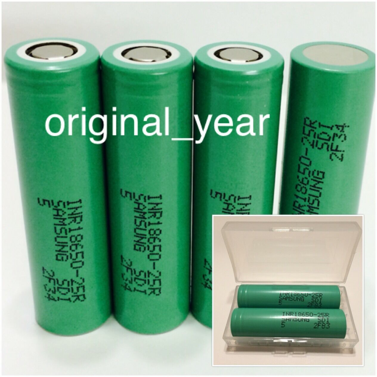 """4""""SAMSUNG INR18650 25R Rechargeable BATTERY35A DISCHARGE3..."""