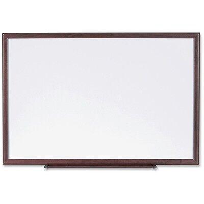 Lorell Dry-erase Board Wood Frame 6x4 Brownwhite 84169