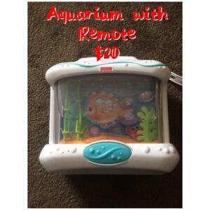 Aquarium with remote