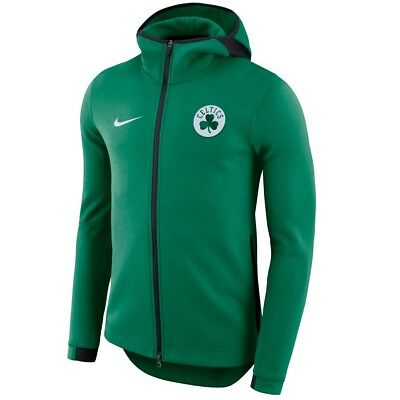 Boston Celtics Mens 2017 Nike Nba Dri Fit Showtime Full Zip Hoodie Medium