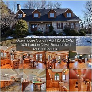 Open house Sunday April 23rd, 2-4pm, 305 London Dr, Beaconsfield