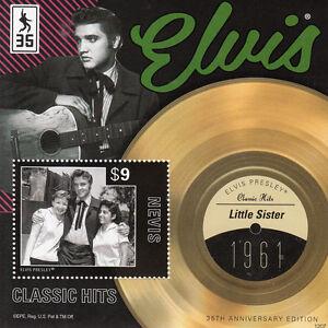 Nevis-2012-MNH-Elvis-Presley-Classic-Hits-III-1v-S-S-1961-Little-Sister