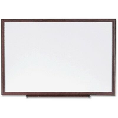 Lorell Dry-erase Board Wood Frame 3x2 Brownwhite 84167