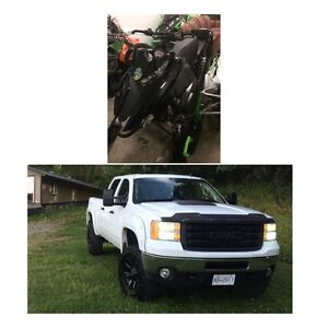 2012 3/4 ton Duramax 2013 Artic Cat combo or single