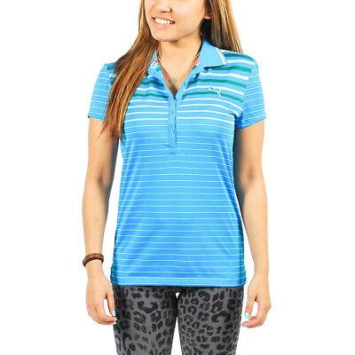 Women's PUMA Golf Graded Stripe Polo Shirt Diva Blue size XS (T21) $65