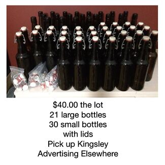 Bottles and lids 51 in total Kingsley Joondalup Area Preview