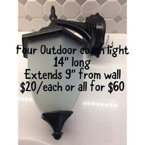 COACH OUTDOOR LIGHTS x4