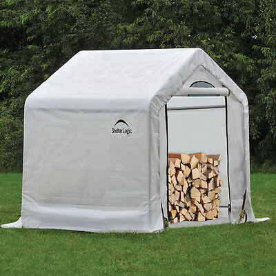 Storage Shed Firewood Garden Canopy Outdoor Building Portable White 3x5 Utility