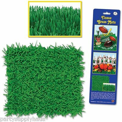 Minecraft EASTER SPRING Green GRASS Tissue FRINGE MATS Party Decoration - Green Grass Mats
