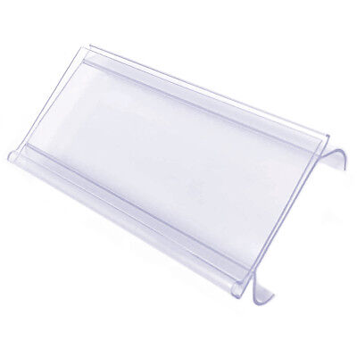 Wire Shelf Clip On Plastic Label Holder With Ticket Slot 3 X 1.25 Wholesale