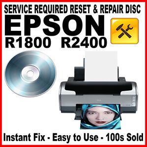 epson stylus photo r1800 r2400 printer fault reset disc service repair fix ebay. Black Bedroom Furniture Sets. Home Design Ideas