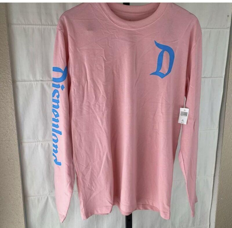 Disneyland Resort Pink Logo Long Sleeve Shirt Top Size XXL