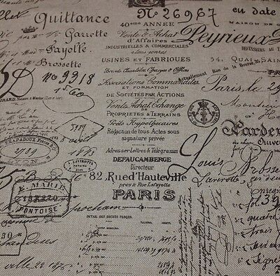 Ballard Designs Document Brown French Script Designer Fabric By The Yard 55  W