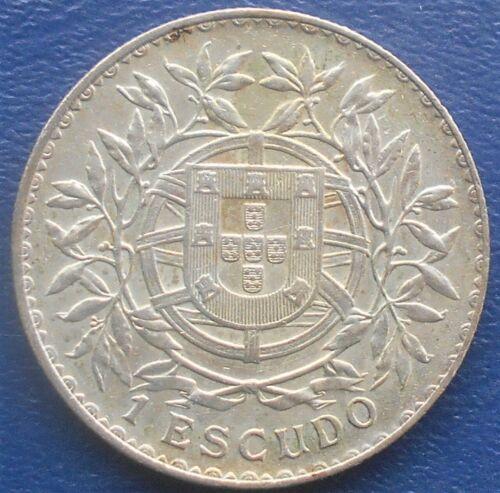 Scarce .835 Silver 1915 Portugal Escudo KM# 564 Large 37 mm Crown Nice Grade 734