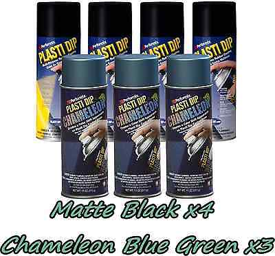 Performix Plasti Dip Wheel Kit 4 Matte Black 3 Chameleon Blue-green Cans Free Sh