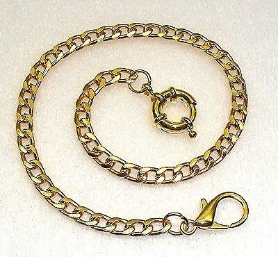 Taschenuhrkette Kette für Taschenuhren Uhrkette Vergoldet 31 cm Neu (g1s)