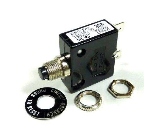 Philmore 10 Amp Push Button Circuit Breaker 32v Dc Or 250v Ac, Fuse