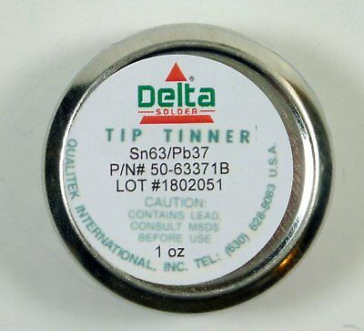 Qualitek Delta Soldering Iron Tip Tinner Cleaner 1 Oz 6337 Alloy Made In Usa