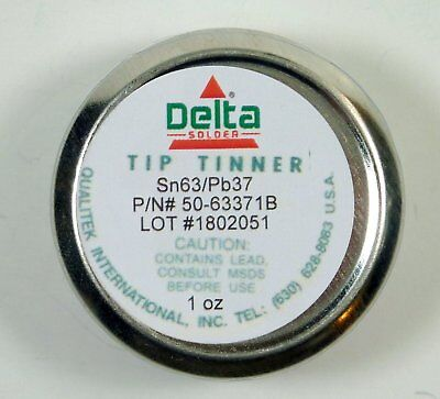 Qualitek Delta Soldering Iron Tip Tinner Cleaner 1 Oz 6337 Alloy Made In Usa