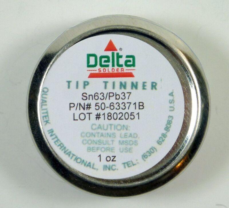 Qualitek Delta Soldering Iron Tip Tinner Cleaner 1 oz 63/37 Alloy Made in USA