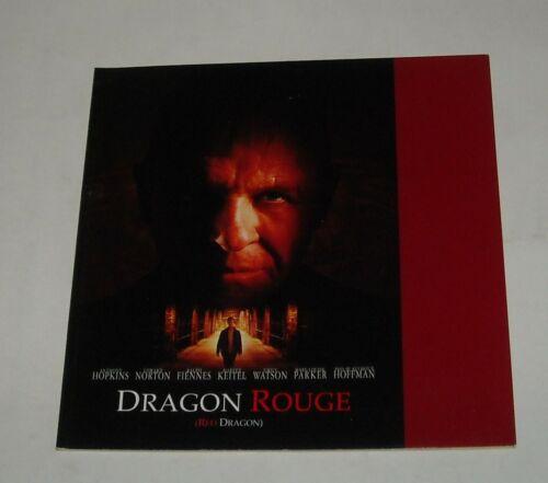 RED DRAGON FRENCH PROMO MOVIE PRESSBOOK ANTHONY HOPKINS EDWARD NORTON THRILLER