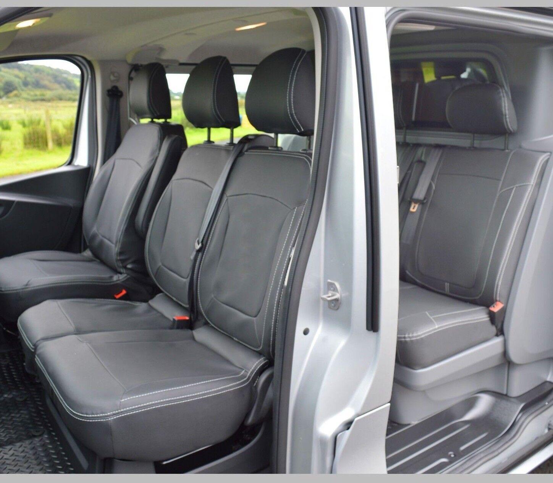 Vauxhall Vivaro Double Cab HEAVY DUTY BLACK WATERPROOF VAN SEAT COVERS 2+1