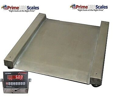 Op-917 Drum Scale Stainless Steel 28 X 28 1500 Lb X 0.5 Lb Wash Down
