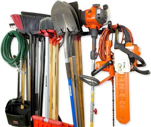 45 Inch Heavy Duty Garden Tool Storage Rack Garage Adjustable Wall Mount Holder
