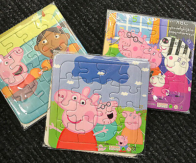 Peppa Pig Cardboard Paper Made Jigsaw Puzzle Toy 16 Pieces X 3 Patterns In 1