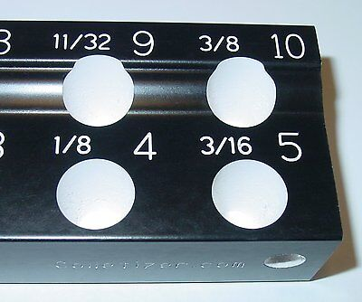 Er16 Metric Collet Rack Engraved For All Sizes Organizer Set Holder Tray Bd